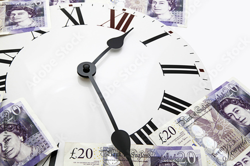 clock sterling money