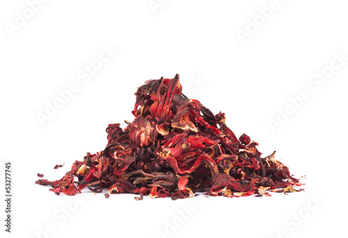 Pile of dried tea leaves
