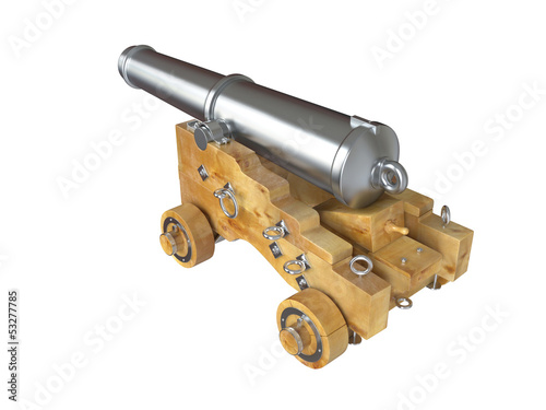 Old cannon. 3D isolated