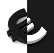 Der Euro schwarz und weiß