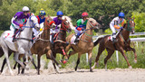Horse racing at the hippodrome in Pyatigorsk.
