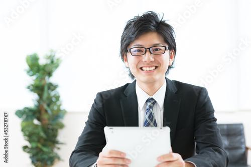 ビジネスマン タブレットコンピューター