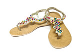 Sandal with gems