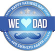 Happy father s day rubber stamp seal illustration
