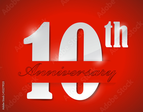 10th anniversary illustration design
