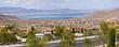 Lake Meade Bolder City Nevada suburb and mountains panorama. - 53279380