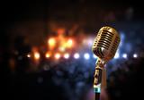 Fototapety audio microphone retro style