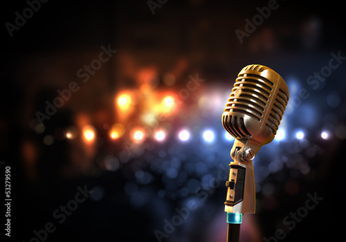 audio microphone retro style - 53279590