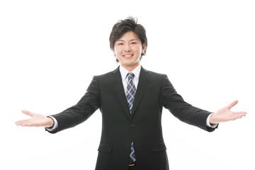 ビジネスマン 歓迎