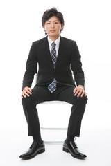 ビジネスマン 座る