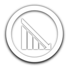risque financier sur vignette blanche