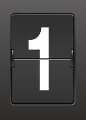 Analog panoda bir  rakamı