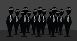 Mystery agents / Bizarre group of businessmen