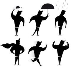 Gentleman character set / Hero Silhouette actions