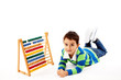 Small Boy With Abacus