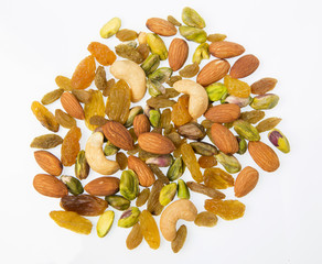 Close up of mixed nuts