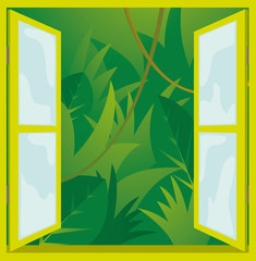Window to nature / jungle