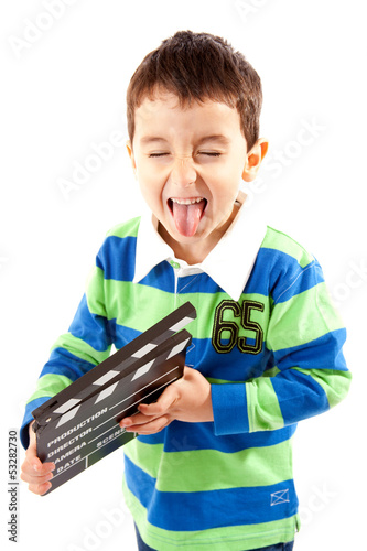 Laughing Boy With Clapperboard