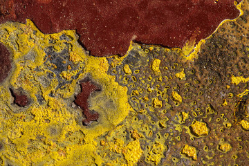 Rusty Painted Metal