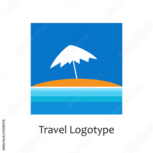 Vector logo seaside holidays