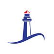 Vector logo lighthouse