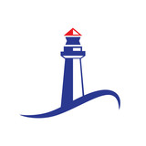 Vector logo lighthouse