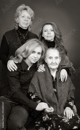 Four generations of women in a family