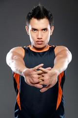 male fitness sports model