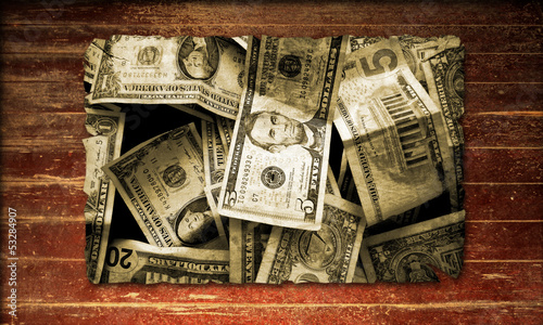 Holzplakat - Dollar