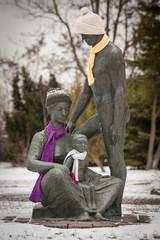 Gernrode im Winter Skulptur
