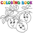 Coloring book fruit theme 1