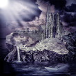 Obrazy na płótnie, fototapety, zdjęcia, fotoobrazy drukowane : Fairy tale. fantasy castle and village