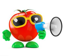 Tomato shouts a lot