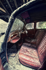 inside old car