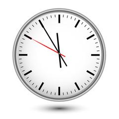 Uhr im deutschen Bahnhofsdesign