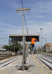 Lavori in corso alla stazione