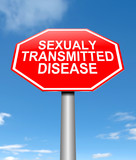 Sexually transmitted disease concept. poster