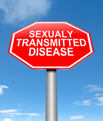 Sexually transmitted disease concept.