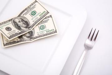 Lebensmittel Kosten in Dollar