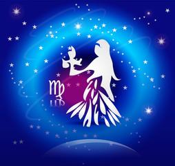 Zodiac Background: The Virgo
