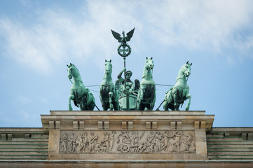 Brandenburger Tor detail. Berlin, Germany.