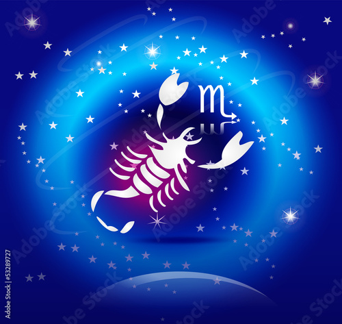 Zodiac Background: The Scorpio