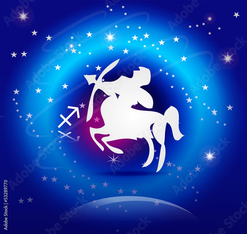 Zodiac Background: The Sagittarius