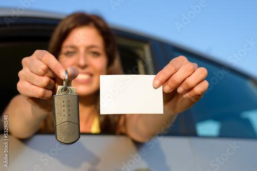 Driving license and car keys