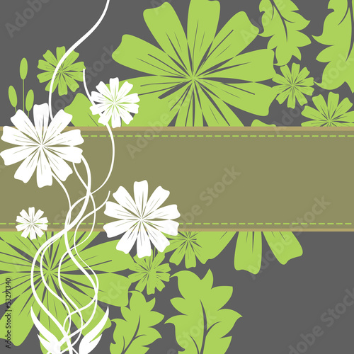 Spring Flowers and Leaves Frame