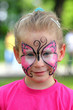 cute little girl with makeup