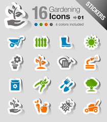 Stickers - Gardening icons