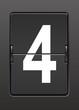 Analog panoda dört  rakamı