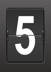 Analog panoda beş  rakamı