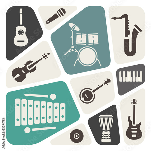 music theme abstract background